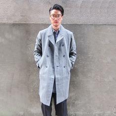 STONE'AS 的 羊毛雙排扣大衣外套