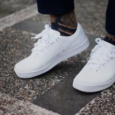 KSWISS 的 白色皮革運動鞋