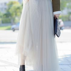 無品牌 的 長紗裙