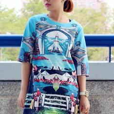 EUDORA 語填 的 印花圖案洋裝