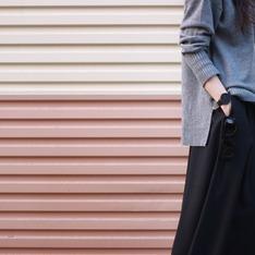 E HYPHEN WORLD GALLERY 的 黑色闊腿褲/褲裙