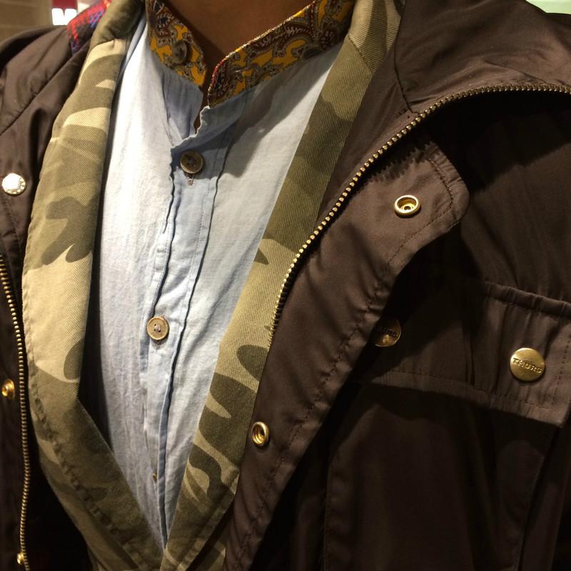 SISLEY 的 大衣+迷彩西裝