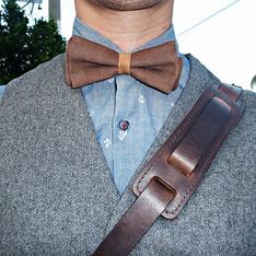 林果良品 的 皮革領結