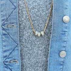 MOMO'S MARCH 的 黃銅項鍊