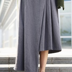 KOUZOU 的 不規則寬褲