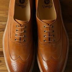 PLAIN-ME X VANGER 的 藍底牛津皮鞋