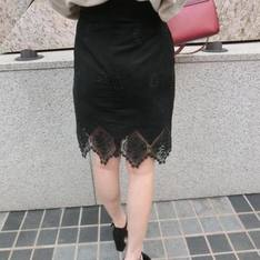AM:AIMER 的 精繡蕾絲裙