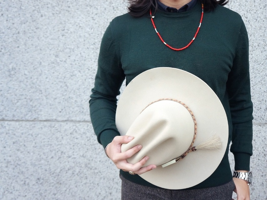 HOOGHAN 的 RED TRADE BEADS NECKLACE