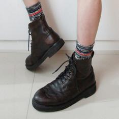 MOONSTAR 的 真皮短靴
