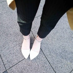 GRACE GIFT 的 平底瑪莉珍鞋