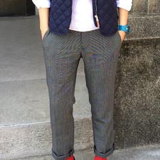 PLAIN-ME 的 點紋九分西裝褲
