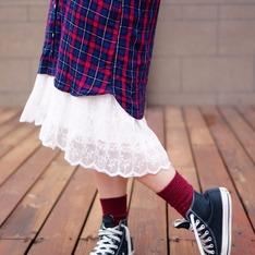 無品牌 的 蕾絲長洋裝