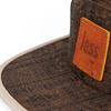 Less leather square logo camp cap