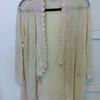 CHITTY SHOP 的 蕾絲滾邊毛料罩衫