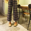 REREBURN: 的 高腰格紋寬褲