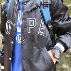 DOPE 的 緞面棒球外套
