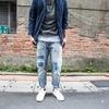 補丁風格的牛仔褲