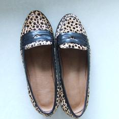 無品牌 的 豹紋馬毛樂福鞋