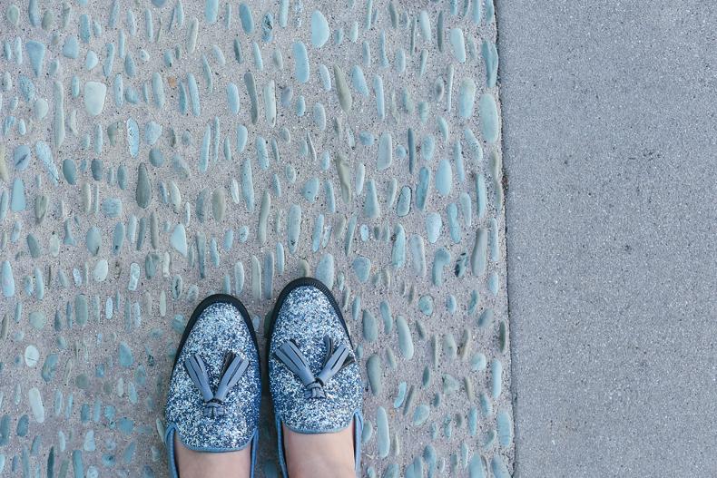 ROBINLO STUDIO 的 亮片樂福鞋
