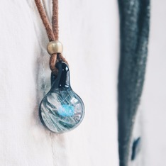 日本購入 的 拉長石玻璃藝術項鍊