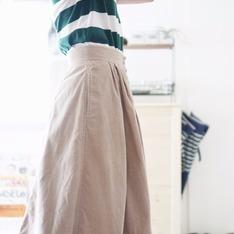 大阪購入古著 的 燈芯絨長裙