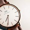 DANIEL WELLINGTON 的 玫瑰金皮腕錶