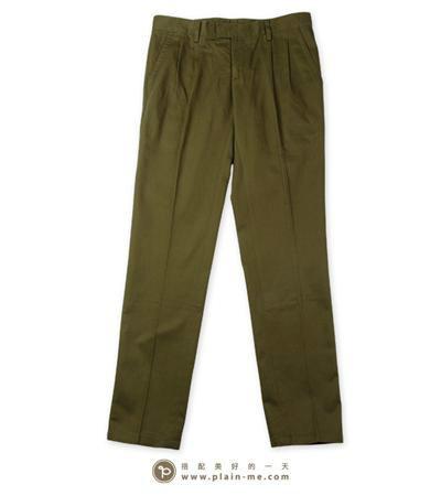 PLAIN-ME 的 低腰卡其褲