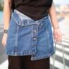 無品牌 的 排釦牛仔短裙