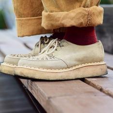 GEORGE COX 的 龐克編織厚底鞋