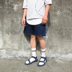 TRAN 的 牛仔短褲