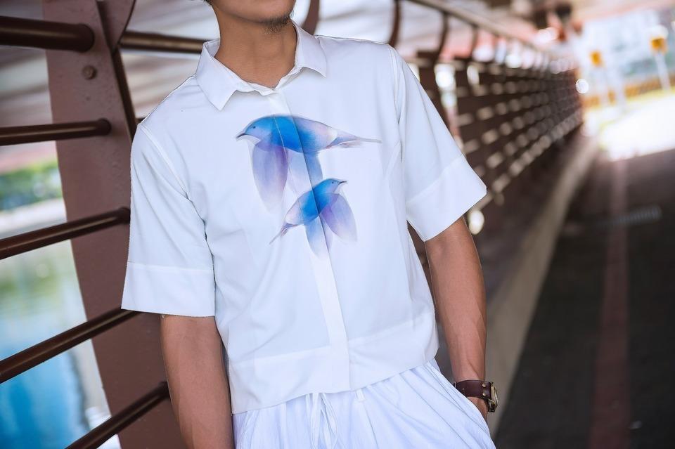 IOHLL 的 鷗鳥印花襯衫