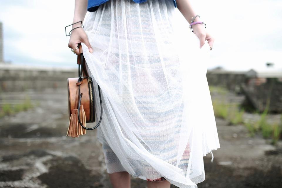 FIFTH AVENUE 的 彩色幾何裙
