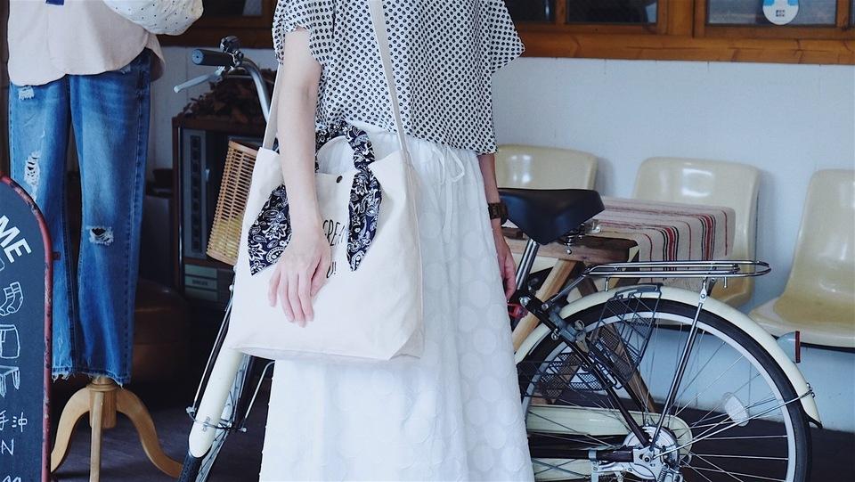 HELLO PHOEBE 的 印花方巾單肩帆布包
