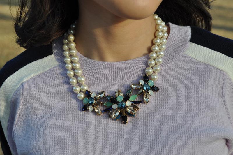 J. CREW 的 珍珠寶石項鍊