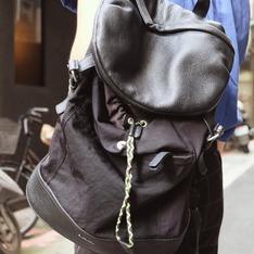 PAUL SMITH 的 真皮拼布後背包