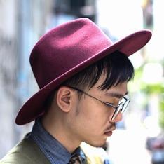 TASTEMAKER 的 酒紅寬沿紳士帽