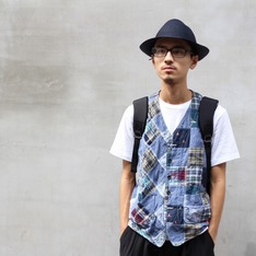 ENGINEERED GARMENTS X BEAMS 的 古布拼接背心
