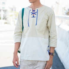 "WL/OF/SD 的 SD-06 ""ENTANGLEMENT"" 3/4 SLEEVES LACE-UP SMOCK"