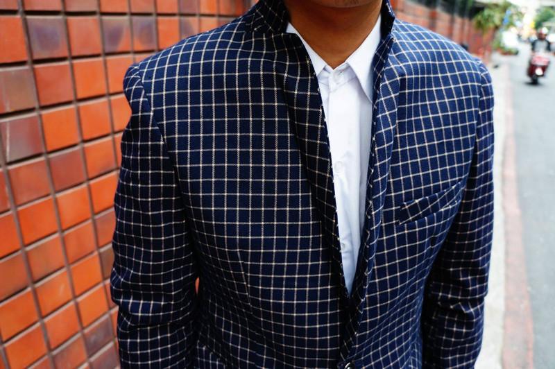 無品牌 的 小格紋西裝外套