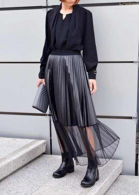 無品牌 的 金屬光澤百褶裙