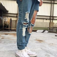 50%  FIFTY PERCENT 的 破壞牛仔褲