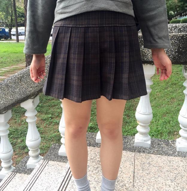 無品牌 的 百折褲裙