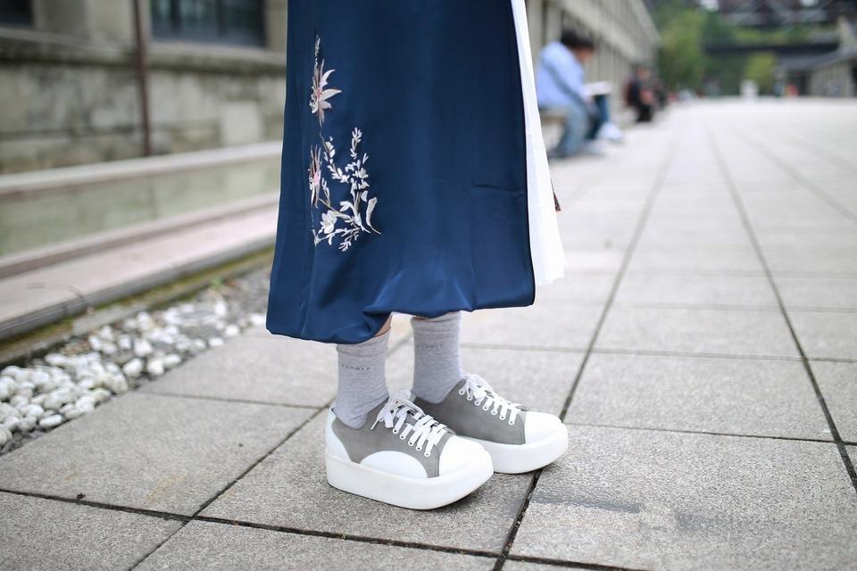 ESPRIT 的 灰色中筒襪