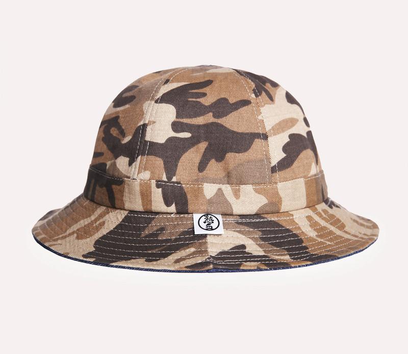 熱血FEVER 的 雙面迷彩漁夫帽