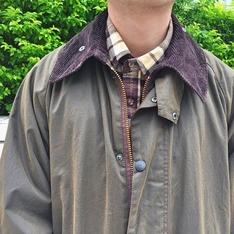 BARBOUR 的 油布大衣