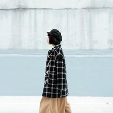 OREO SHAKE WEAR 的 格子牛角釦大衣