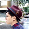 NEW YORK HAT X SCHOTT 的 酒紅紳士帽