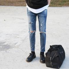 ROCK STEADY 的 刷破牛仔褲