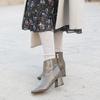 DC-KOREA正韓時尚 的 灰色粗跟短靴