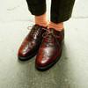 LOAKE 的 棗紅雕花皮鞋